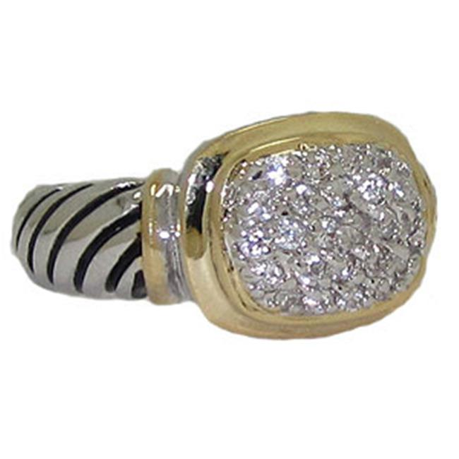 Designer Jewelry CR3289 CZ Designer Cable Ring Walmartcom