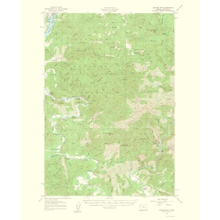 Old Topographical Map Print   Euchre Mountain Oregon Quad   Usgs 1963   23 X 28 21