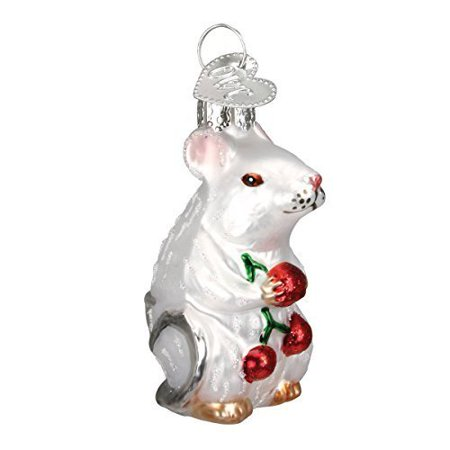 Old World Christmas Mouse Glass Blown Ornament - Moose Christmas Ornaments