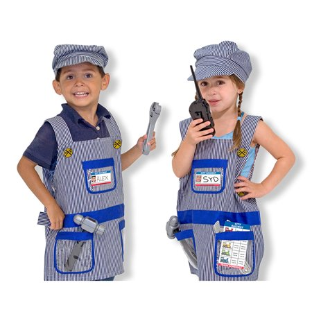 TRAIN ENGINEER COSTUME SET - Female Train Conductor Costume