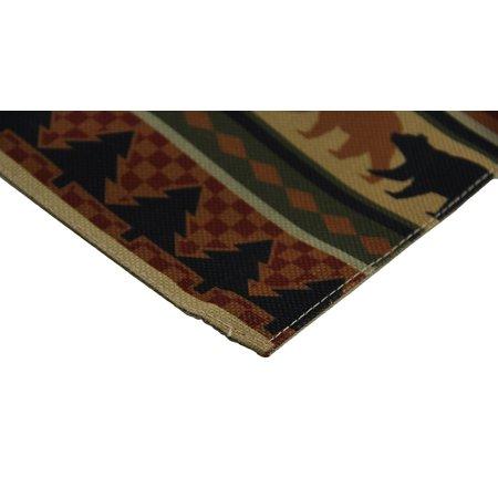 4 Piece Forest Bears Rustic Lodge Fabric Placemat Set - image 2 de 3