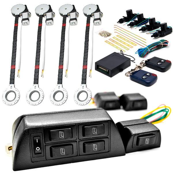 Biltek 4x Door Car Power Window + Keyless Door Unlock Kit For Cadillac   Jeep SRX STS XLR XTS Cherokee CJ5 CJ7 by Biltek