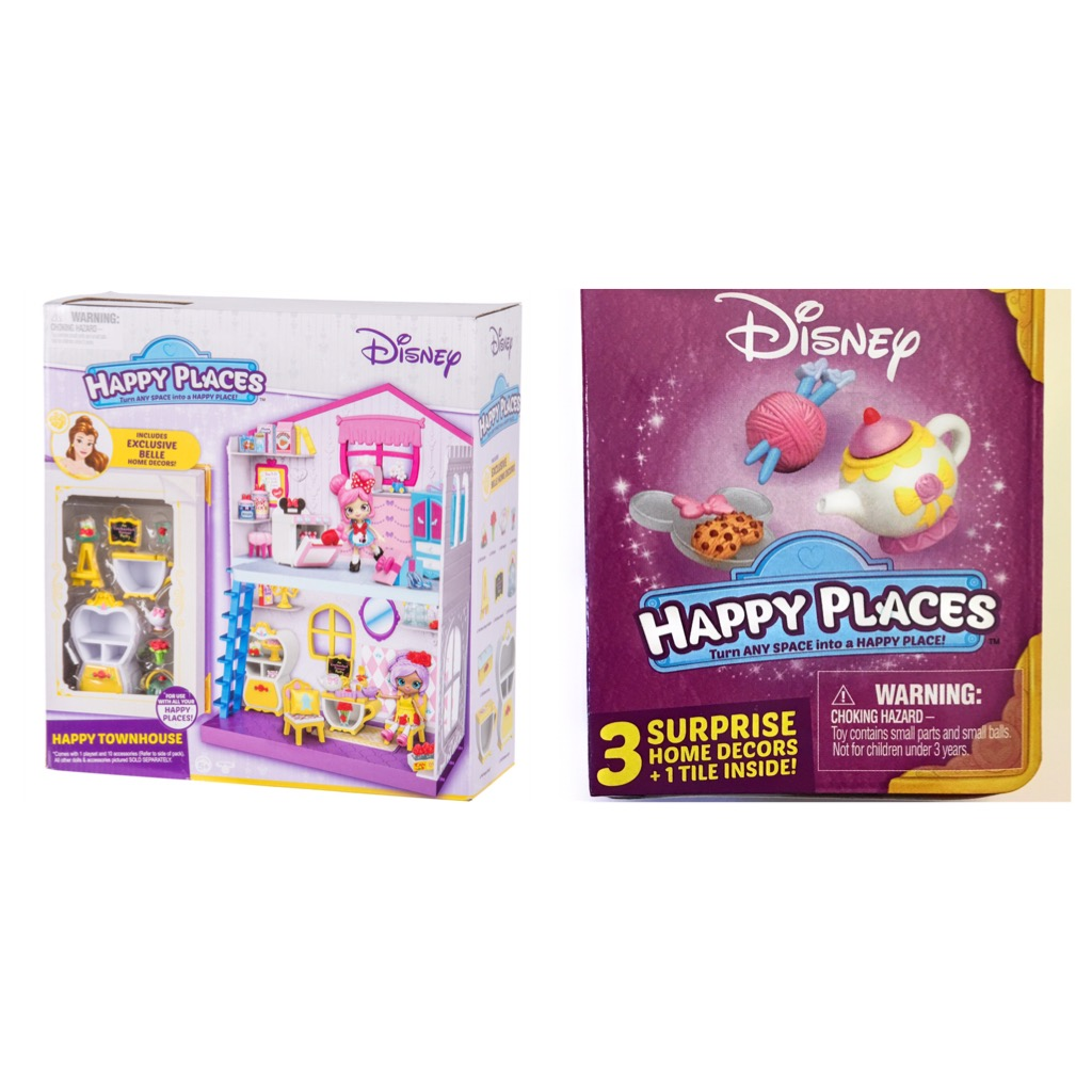 Shopkins Disney Happy Places Happy Townhouse Playset and Blind Box Bundle