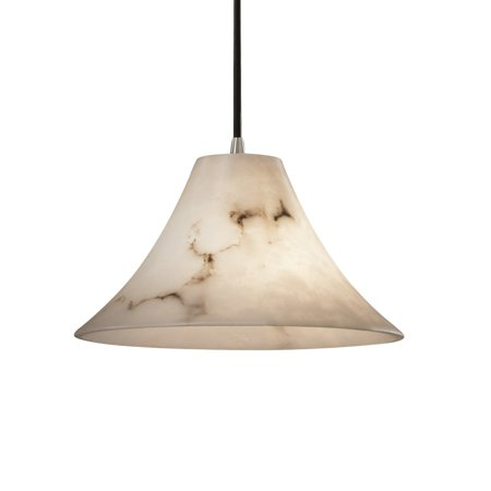 Justice Design Group  LumenAria 1-light Brushed Nickel Pendant
