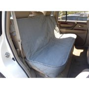 """Formosa Covers Deluxe Quilted and Padded Back Seat Bench cover with Non-Slip fabric in Seat area - One size fits all 56""""W Grey"""