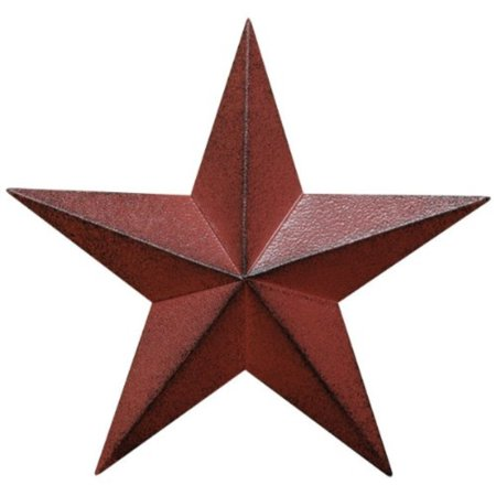 cwi gifts barn star wall decor, 12-inch, burgundy - Burgundy Decor