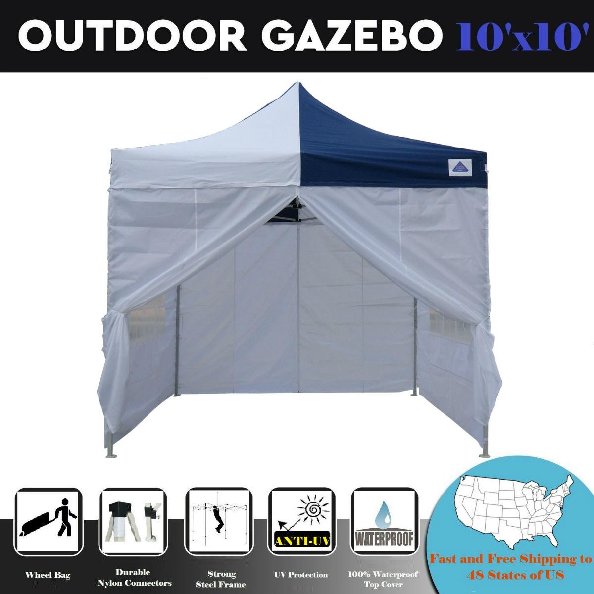 10'x10' Pop up Outdoor Instant Folding Wedding Canopy Party Tent Gazebo