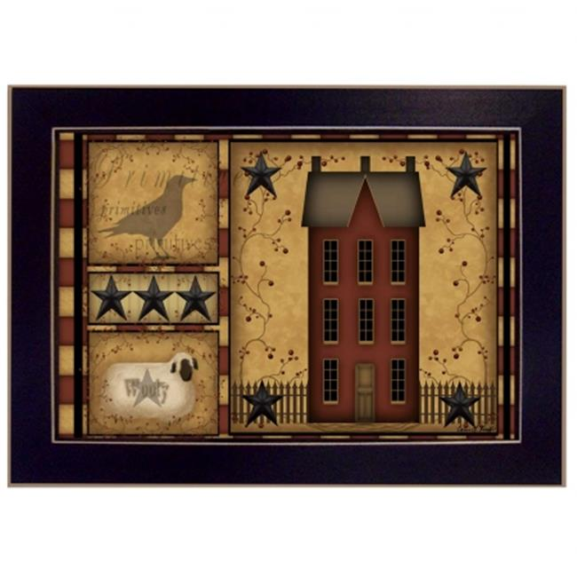 """""""Primitive Shadowbox"""" by Carrie Knoff Printed Framed Wall Artwork by Millwork Engineering"""