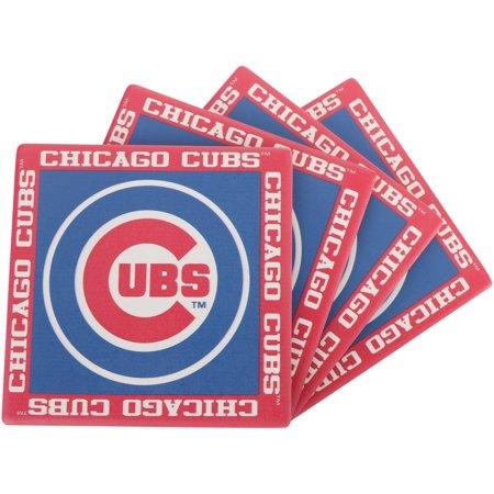 Chicago Cubs Four-Pack Team Uniform Coaster Set - No (Chicago Cubs Coasters)