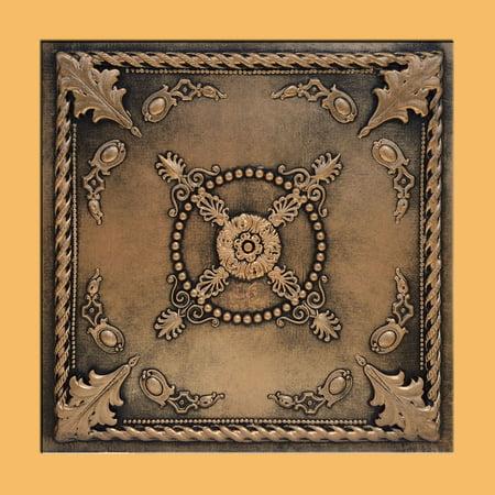 Jewel Antique Bronze Black PVC Ceiling Tiles for Drop in Grid System (10 pack) (Gem Tile)