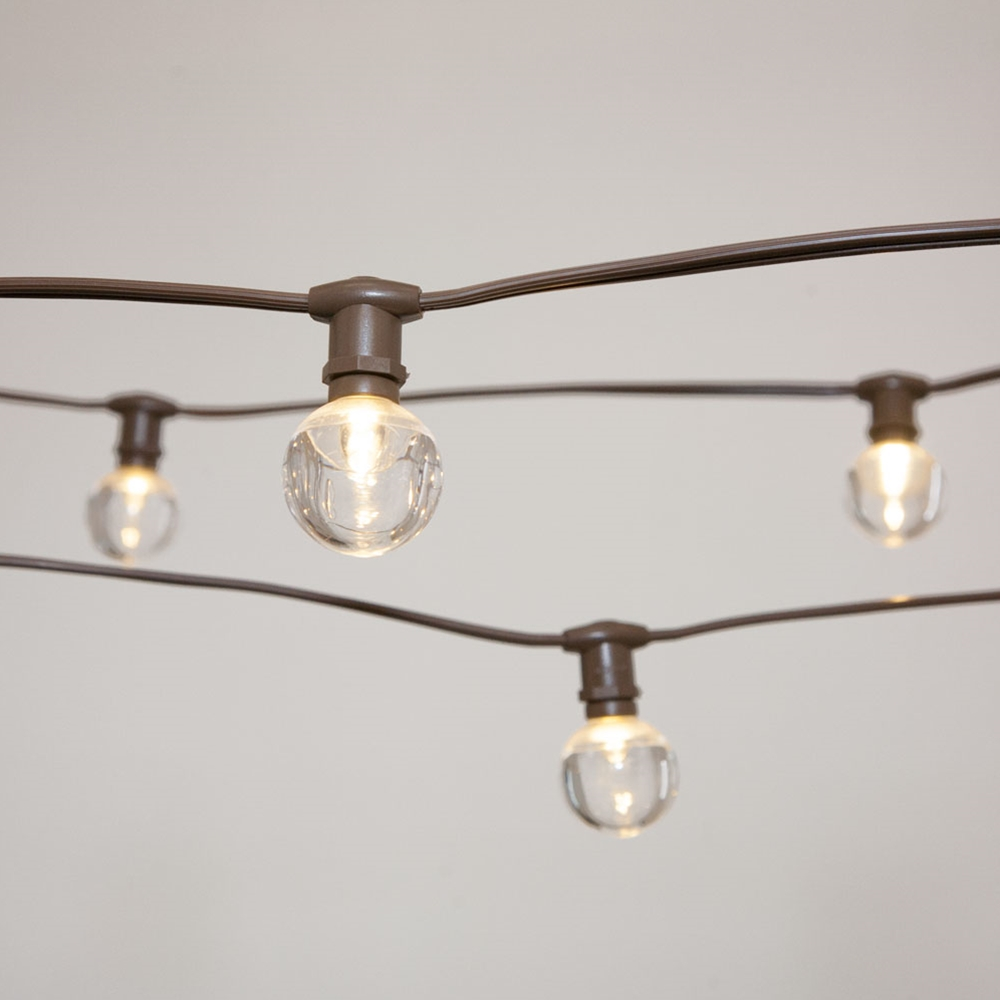 Commercial String Lights Commercial Globe Lights 50ft E12 Brown Wire ...