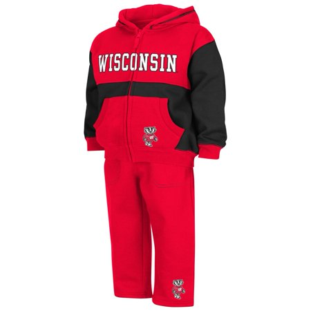 Infant Toddler University of Wisconsin Badgers Hoodie and Pants Set - Badger Outfit