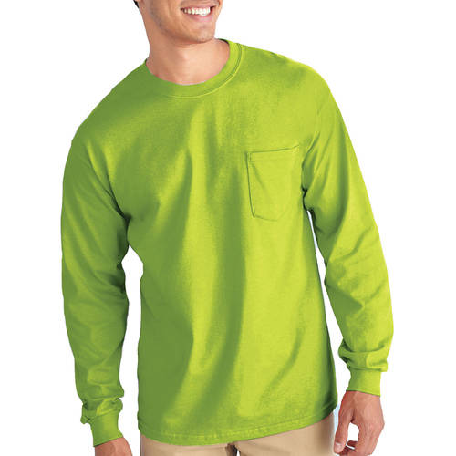 Gildan Mens Classic Long Sleeve Pocket T-Shirt