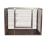 "Heavy Duty Rectangle Tube Pen Dog Cat Pet Training Kennel Crate, 28"" Height"