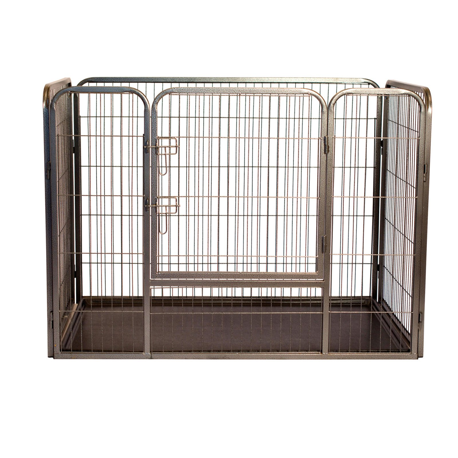 "Iconic Pet Heavy Duty Rectangle Tube Pen Dog Cat Pet Training Kennel Crate, 28"" Height"