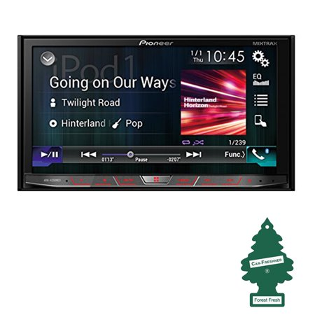 Pioneer Avh 4200Nex Double Din In Dash Multimedia Dvd Receiver With 7  Wvga Touchscreen Display W  Air Freshener