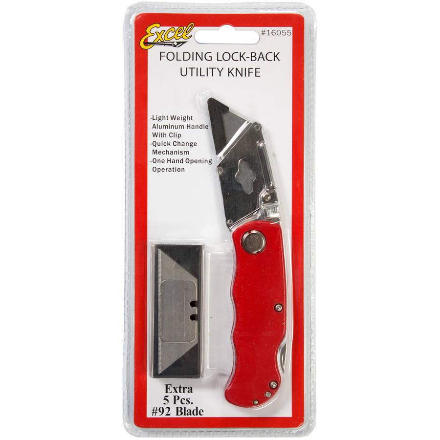 K55 Folding Lock Utility Knife with 6 Blades