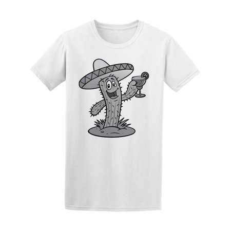 Happy Mexican Mariachi Cactus Tee Men's -Image by Shutterstock (Mariachi Clothing)