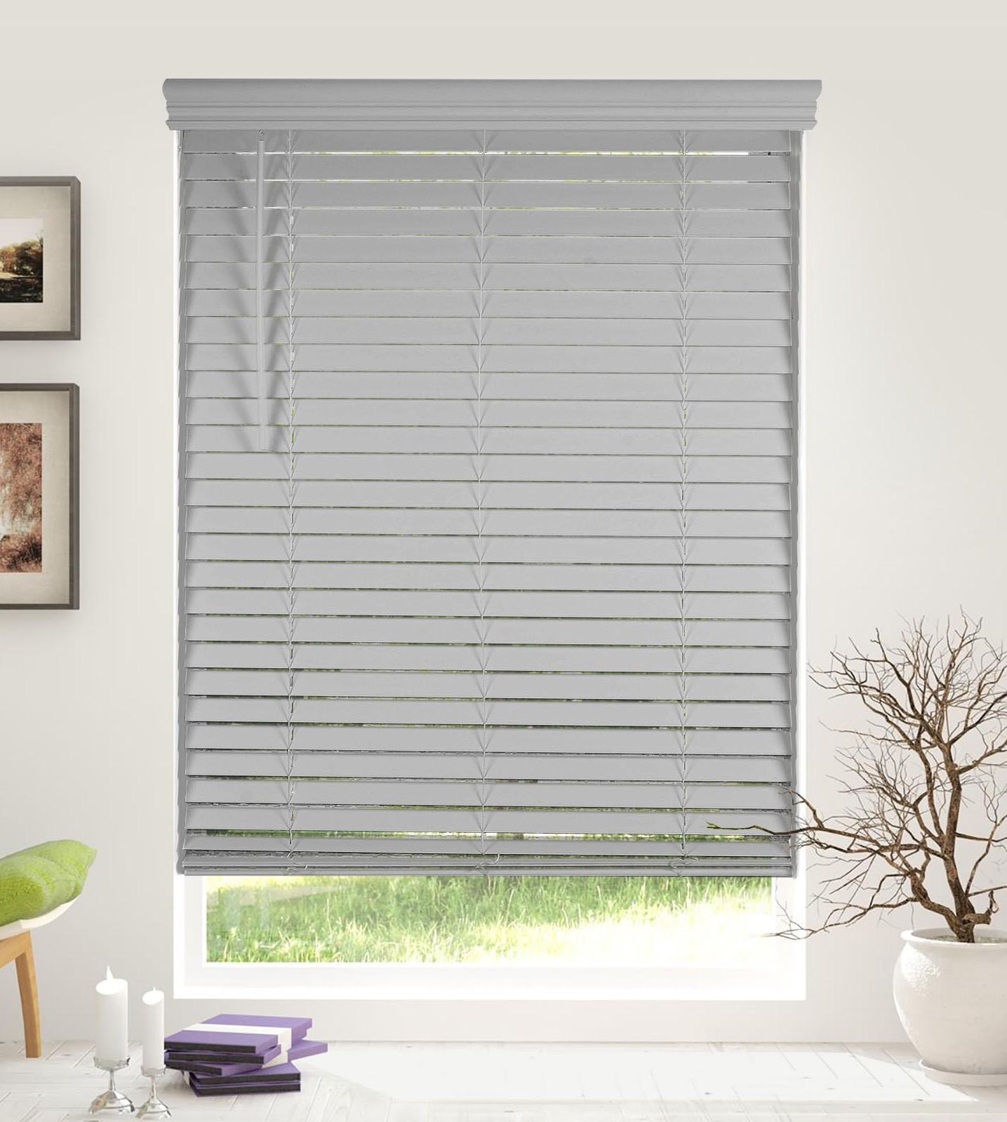 Arlo Blinds Cordless 2 Inch Faux Wood Horizontal Blinds