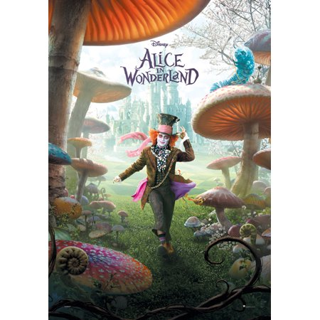 Alice In Wonderland - Movie Poster / Print (The Mad Hatter In Mushroom Forest) (Size: 27