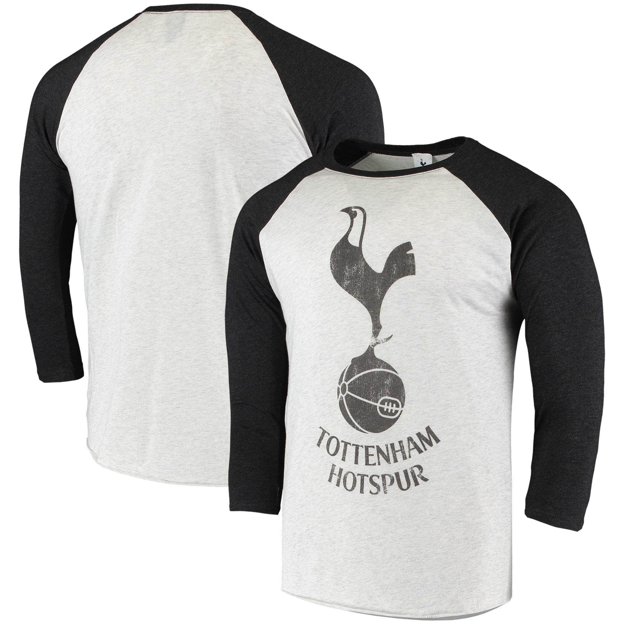 Fifth Sun Tottenham Hotspur Primary Logo Tri Blend Raglan T Shirt White Black Walmart Com Walmart Com