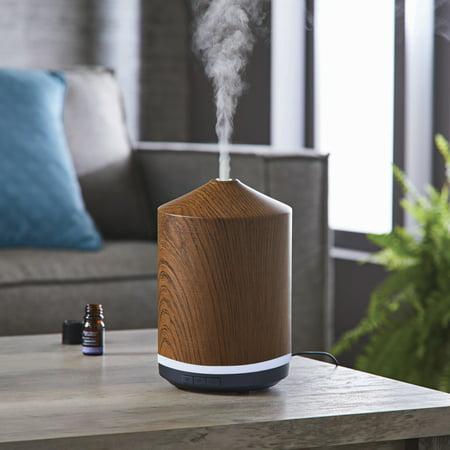 Better Homes & Gardens 250 mL Ultrasonic Aroma Diffuser, Woodgrain