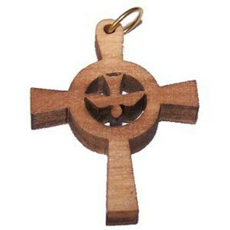 Holy Spirit Olive wood Dove Cross Laser(3.5x2.7 cm or 1.4x1.1