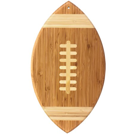 Totally Bamboo Football Shaped Bamboo Serving and Cutting Board, 15