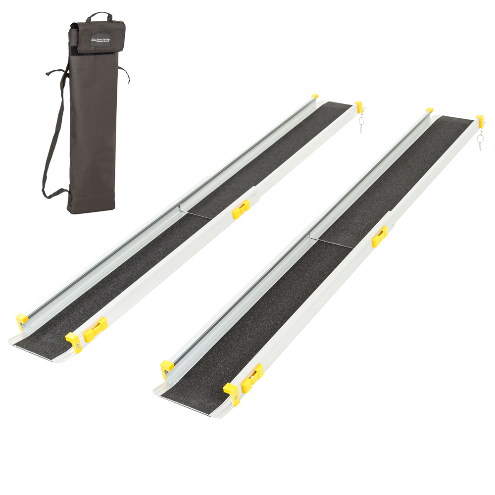 Silver Spring 3-5 ft. Telescoping Wheelchair Track Ramps with Storage Bag