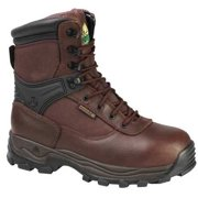 Rocky Size 9 Steel Toe Work Boots, Men's, Brown, M, FQ0006486