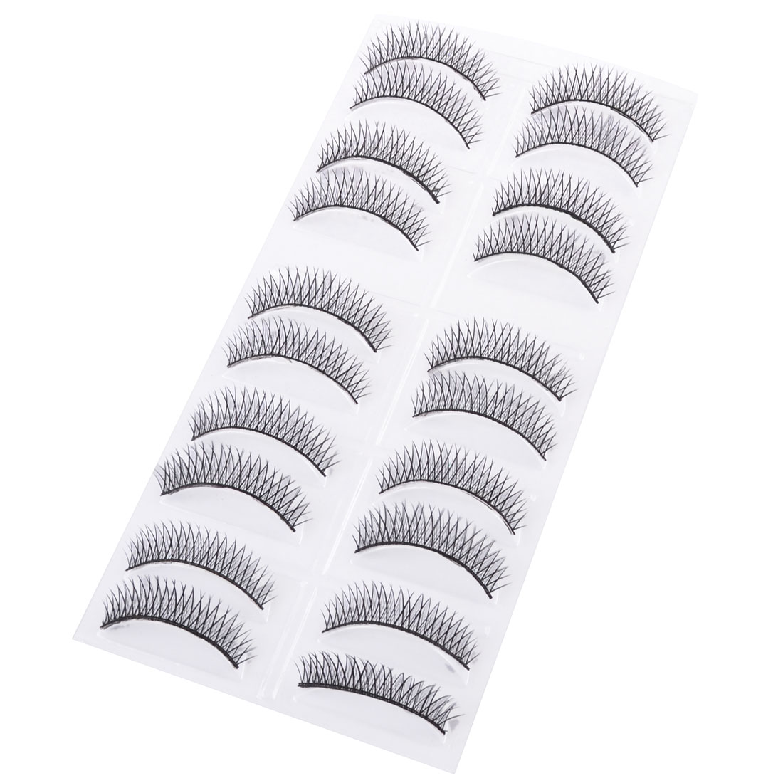 Girl Eye Beauty Cosmetic Thick Long Curly Fake Eyelashes Black 20 in 1