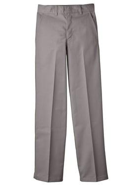 Genuine Dickies Husky Boys School Uniform Classic Fit Straight Leg Flat Front Pants (Husky)