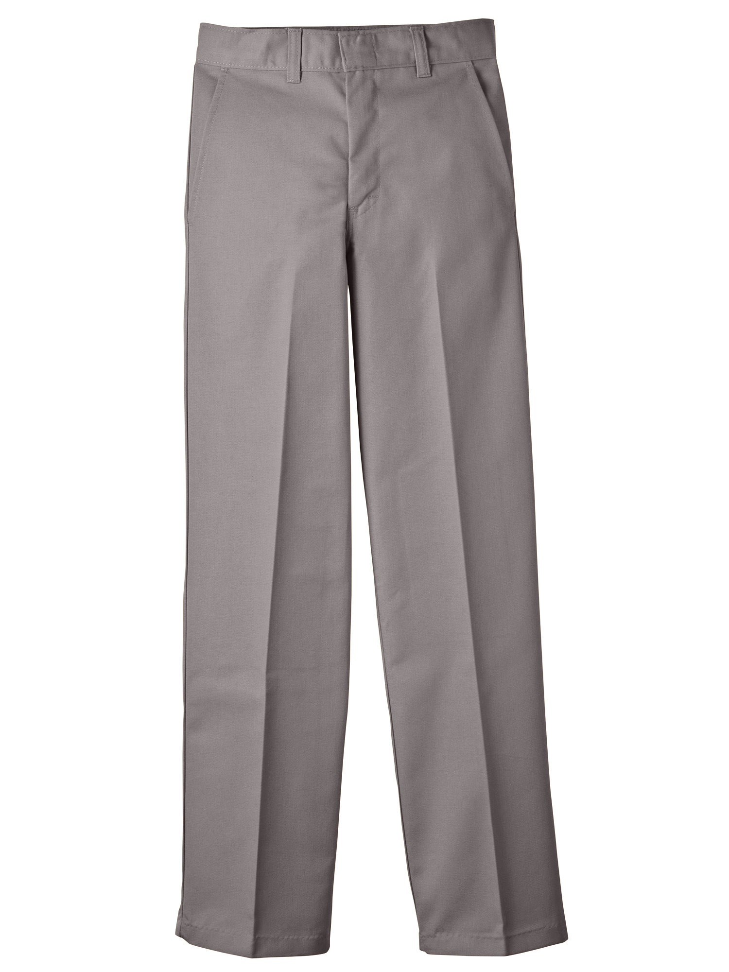 Boys' Classic Fit Uniform Straight Leg Flat Front Pants (Husky Boys)