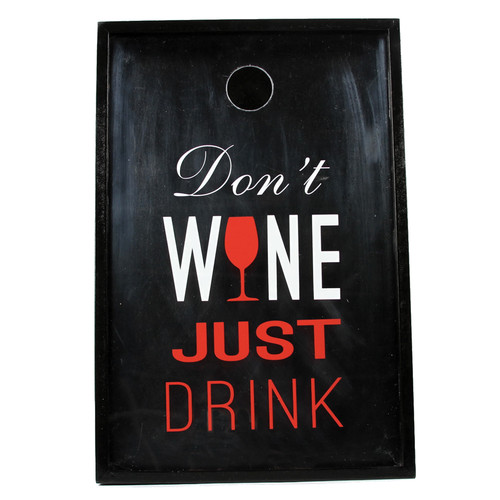 DEI Wine Sayings Just Drink Shadowbox Cork Keeper