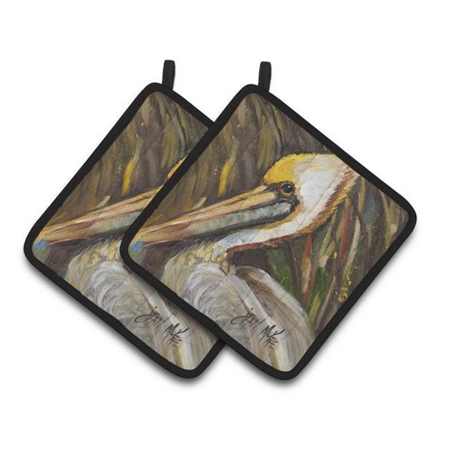 Carolines Treasures JMK1217PTHD Pelican lookin East Pair of Pot Holders, 7.5 x 3 x 7.5 in. - image 1 de 1