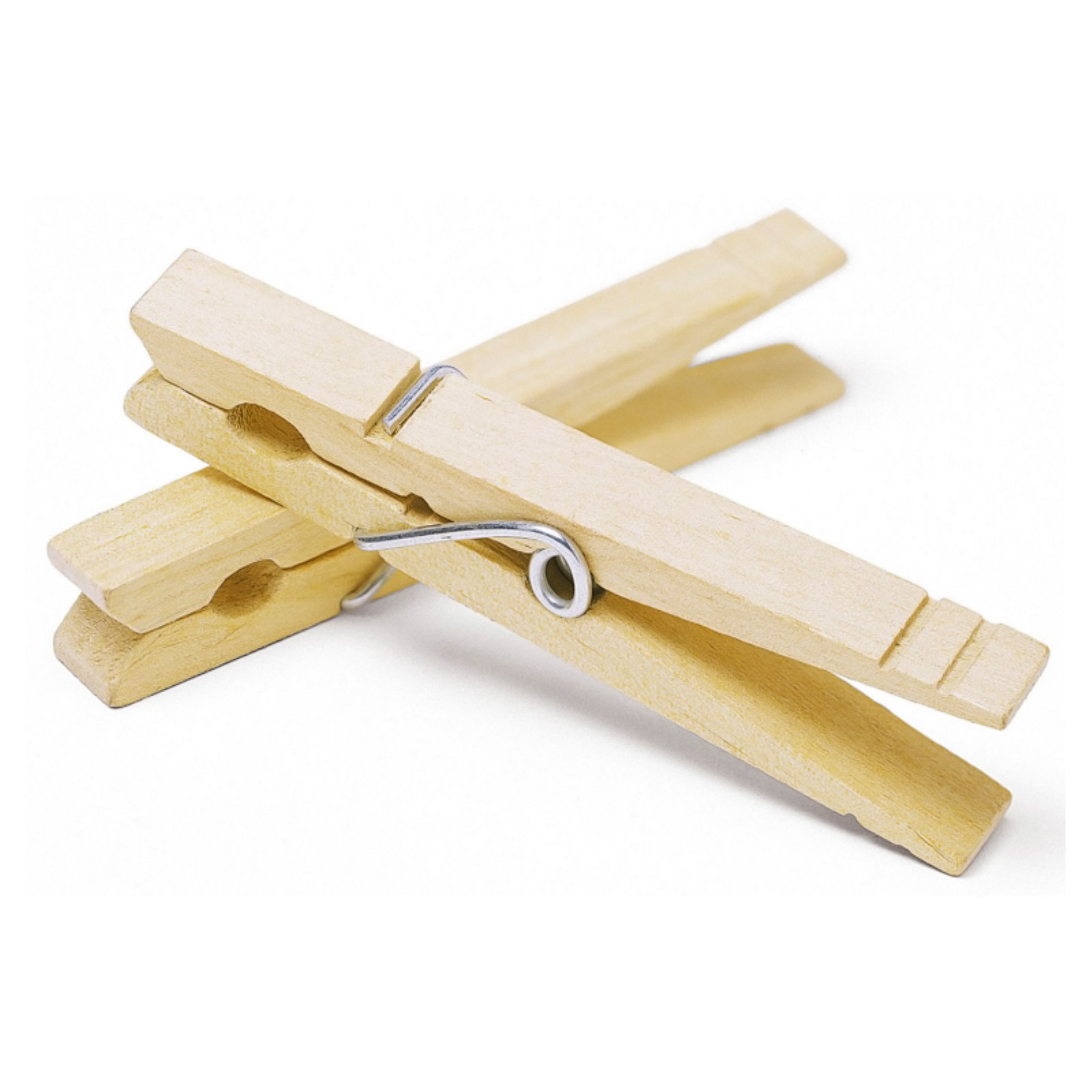 Whitmor 6026-868 Natural Wood Clothespins, 100 Count by Whitmor