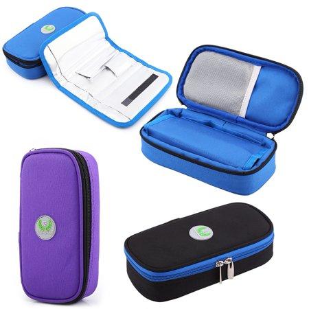 Knifun 3 Colors Portable Diabetic Organizer Cooler Bag Medical Care Cooler Case For Traveling,Diabetic Bag, Insulin Case