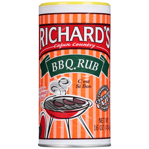 Richard's Cajun Country BBQ Rub, 16 oz