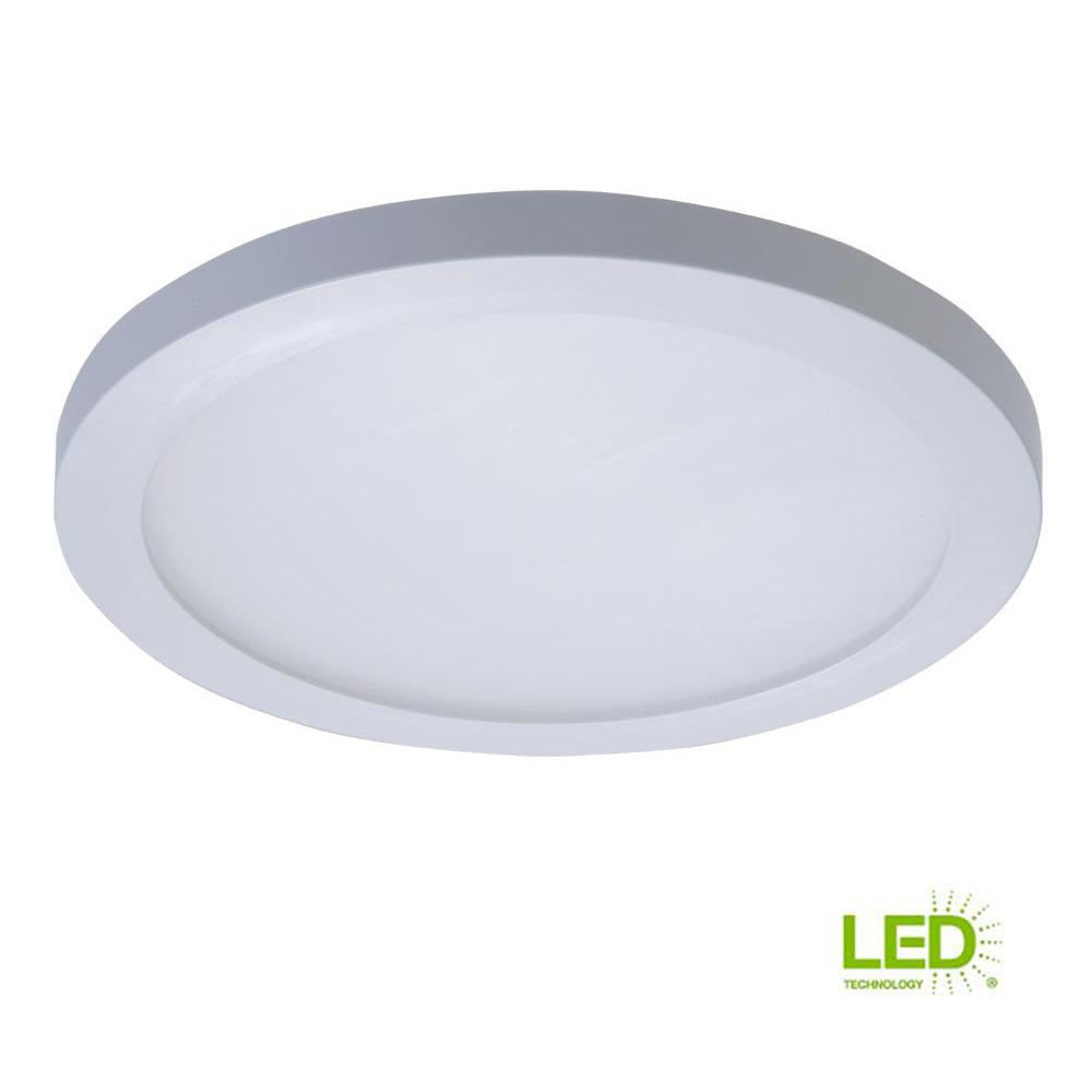 Halo smd 5 6 cool white led recessed round surface mount ceiling light fixture