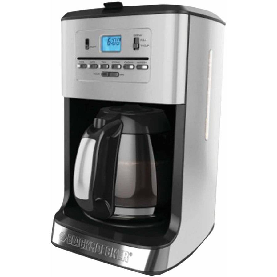 Black and decker 12 cup programmable - Black Decker Cm3005s 12 Cup Tea And Coffee Maker Cm3005s Walmart Com