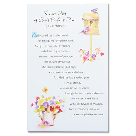 Religious Birthday Card With Foil