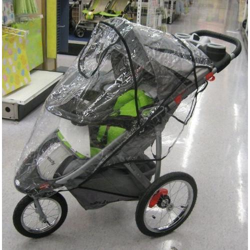 Sashas Rain/Wind Cover for Front Swivel Wheel Expedition  -Stroller not included