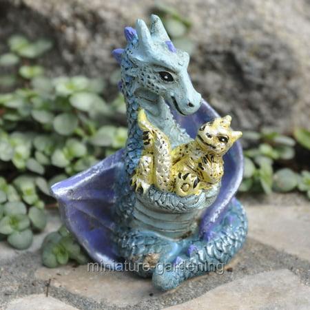 Miniature Mom and Baby Dragon for Miniature Garden, Fairy Garden