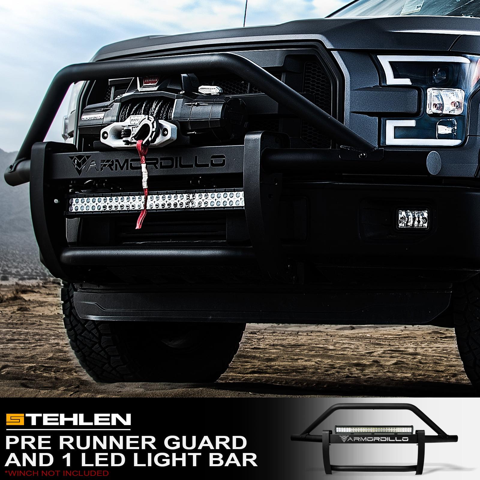 "Armordillo 733469487746 Modular Pre-Runner Bumper Grille Guard with 32"" 60x CREE LED Light Bar ( Matte Black ) For 2005-2015 Toyota Tacoma"