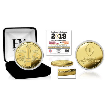 Alabama Crimson Tide vs. Clemson Tigers Highland Mint College Football Playoff 2019 National Championship Dueling Gold Mint Coin - No (Championship Coin)