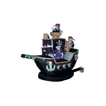 BZB Goods Halloween Inflatable Skeletons & Ghosts on Pirate Ship Decoration - Skeleton Pirate Halloween Makeup