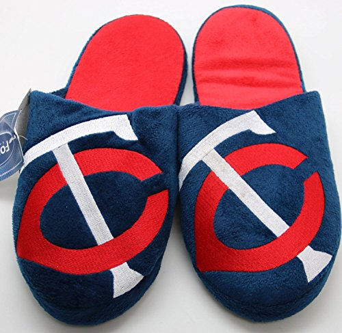 MLB Minnesota Twins Men's Team Logo Slippers Extra Large (13-14)