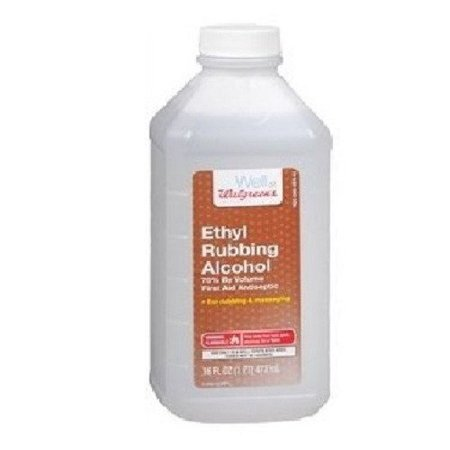 Walgreens Ethyl Rubbing Alcohol 70% First Aid Antiseptic, 16 fl oz