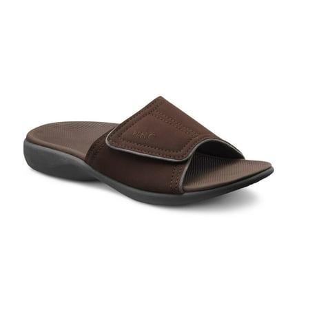 Dr. Comfort Connor Men's Supportive Slide Sandals - -
