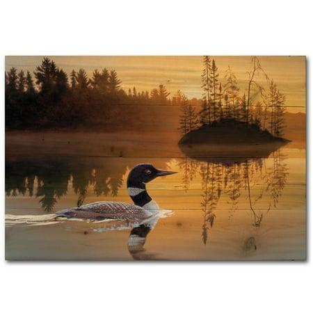 WGI-GALLERY Stone Island Loon Painting Print